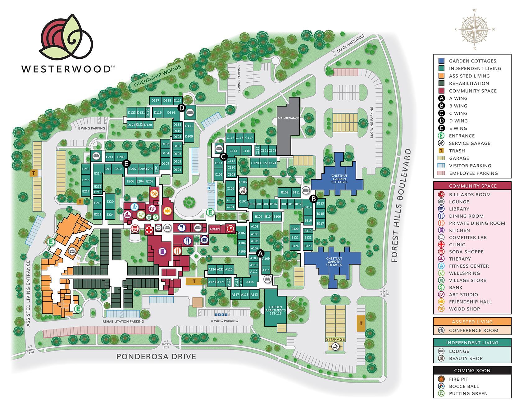 Westerwood campus map   Westerwood